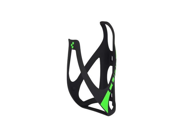 Cube HPP Flaschenhalter matt schwarz/grün